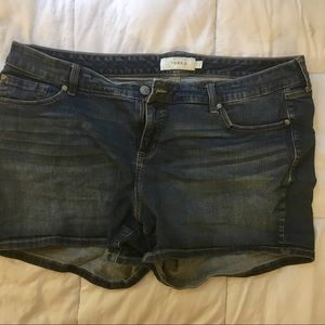 Torrid Dark-Wash Jean shorts